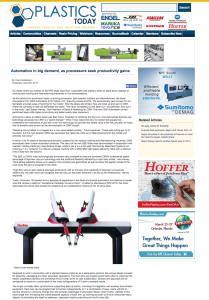 Plastics today robot article