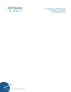Skyware letterhead
